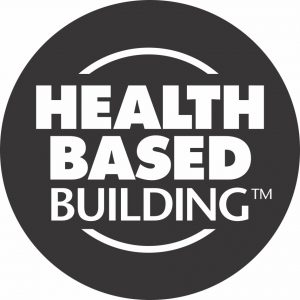 NZS0064 Health Based Building TM Logo_BW_reversed